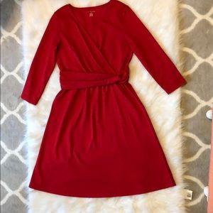 Lands end Res faux wrap dress